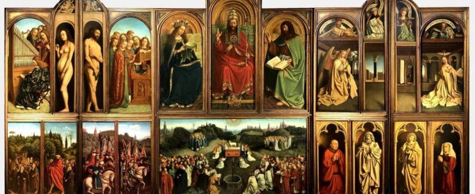 fiandre - Van Eych Polittico Agnello Mistico 1 1024x491 978x400 - Fiandre: l'anno di van Eyck tra mostre ed eventi