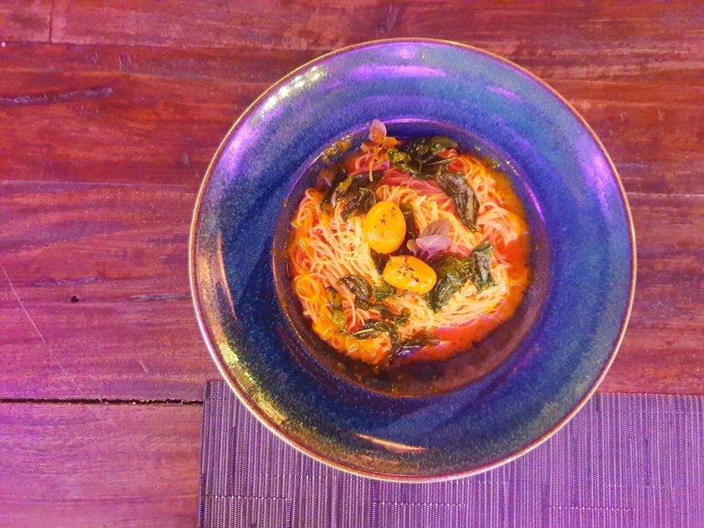 Mediterraneo - Spaghettini mediterraneo - 20200702 012350 - MEDITERRANEO a Roma: il ristorante dell'estate nel giardino del MAXXI