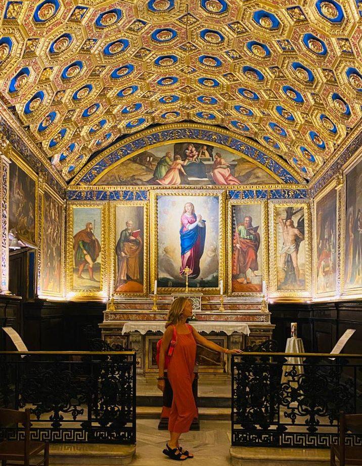 Gaeta: Cappella dorata Immacolata Concezione