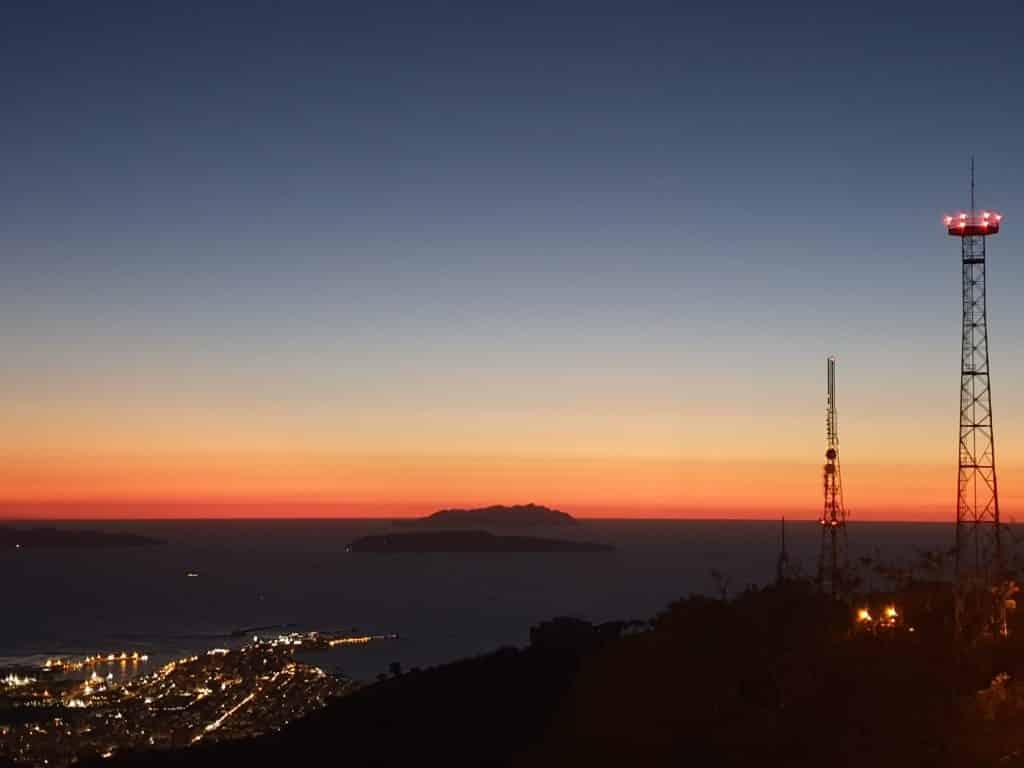 Sicilia - Erice e le Egadi al tramonto