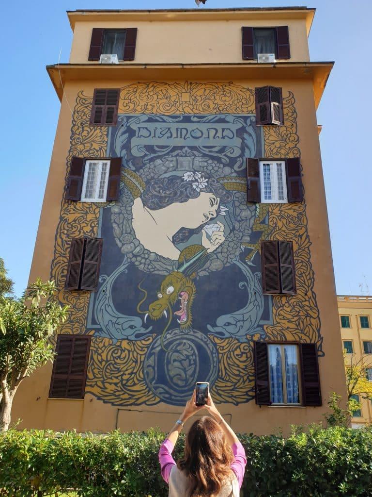 Street art - Diamond: Hic sunt Adamantes