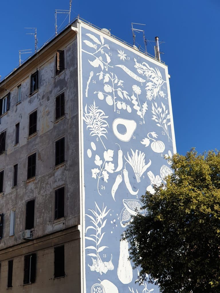 Street Art - Erbarium di Tellas a Torpignattara