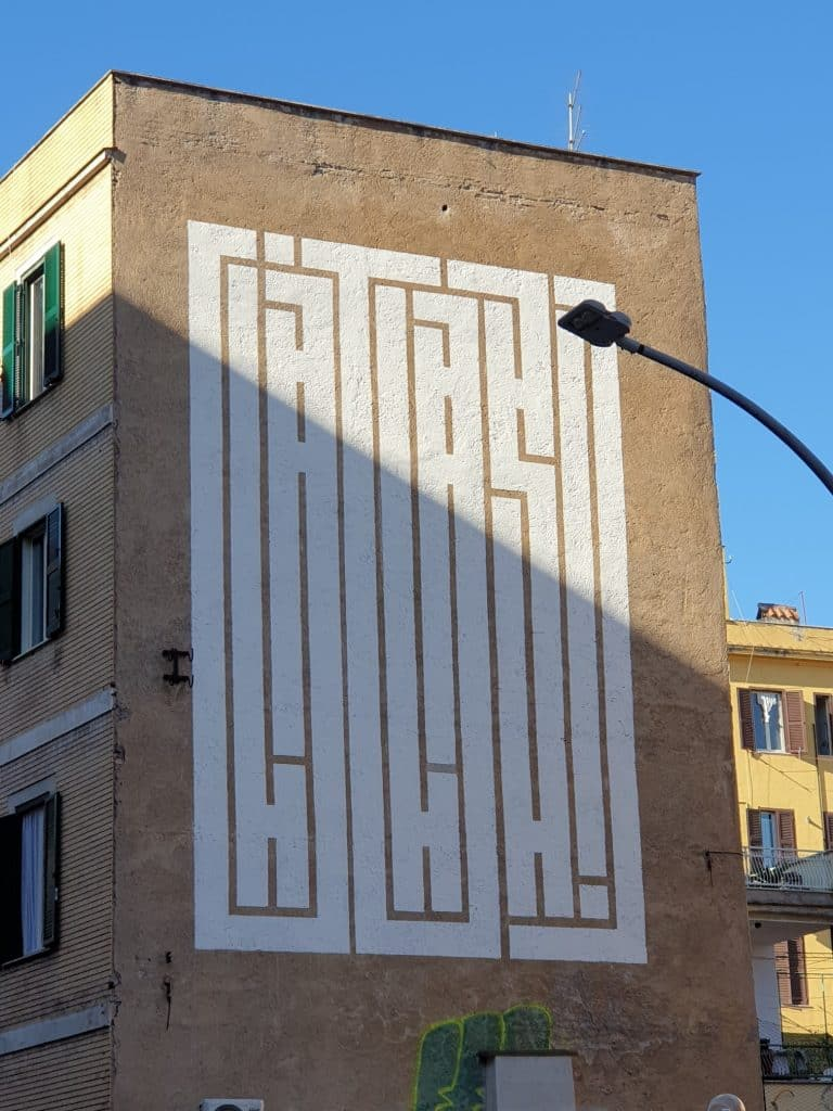Street Art - Atlas e Firma Mimetizzata
