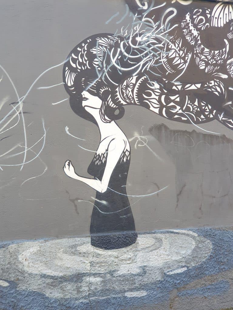 Street art - Herbert Baglione a Via delle Conce - Ostiense District