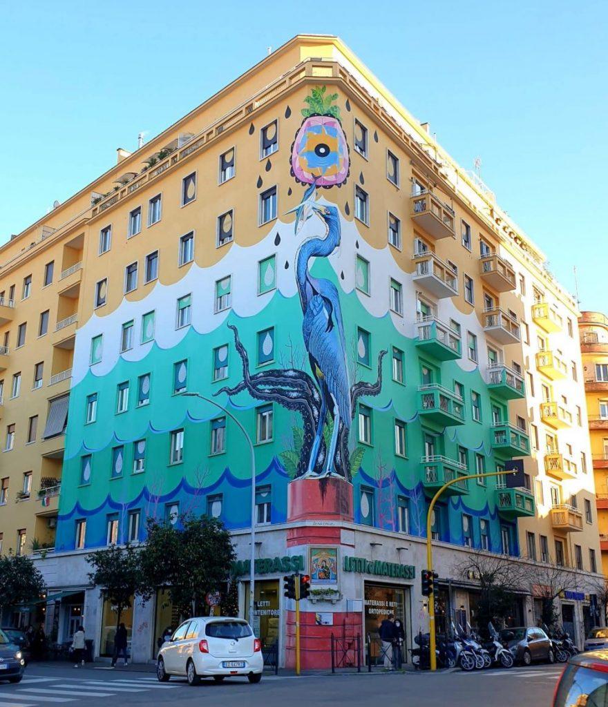 Street art - Il murale mangia smog di Iena Cruz