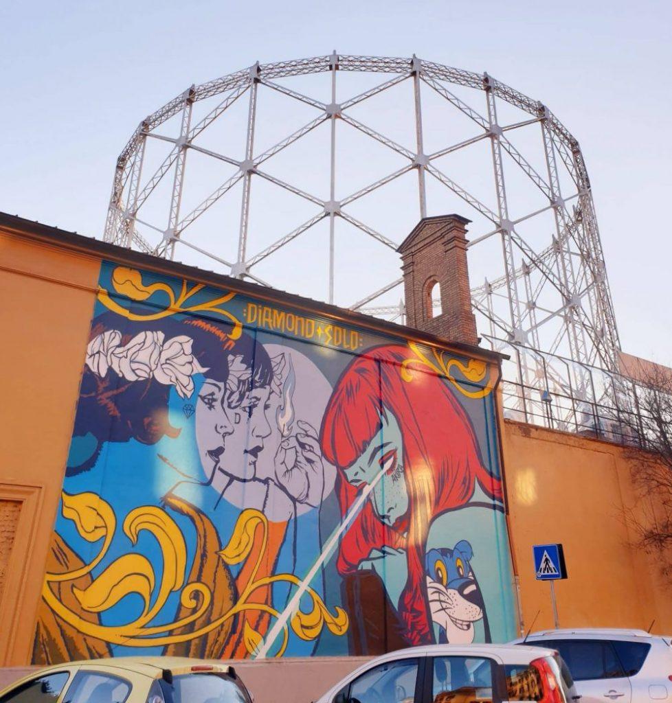Street art - Murale di Diamond e Solo al Gazometro