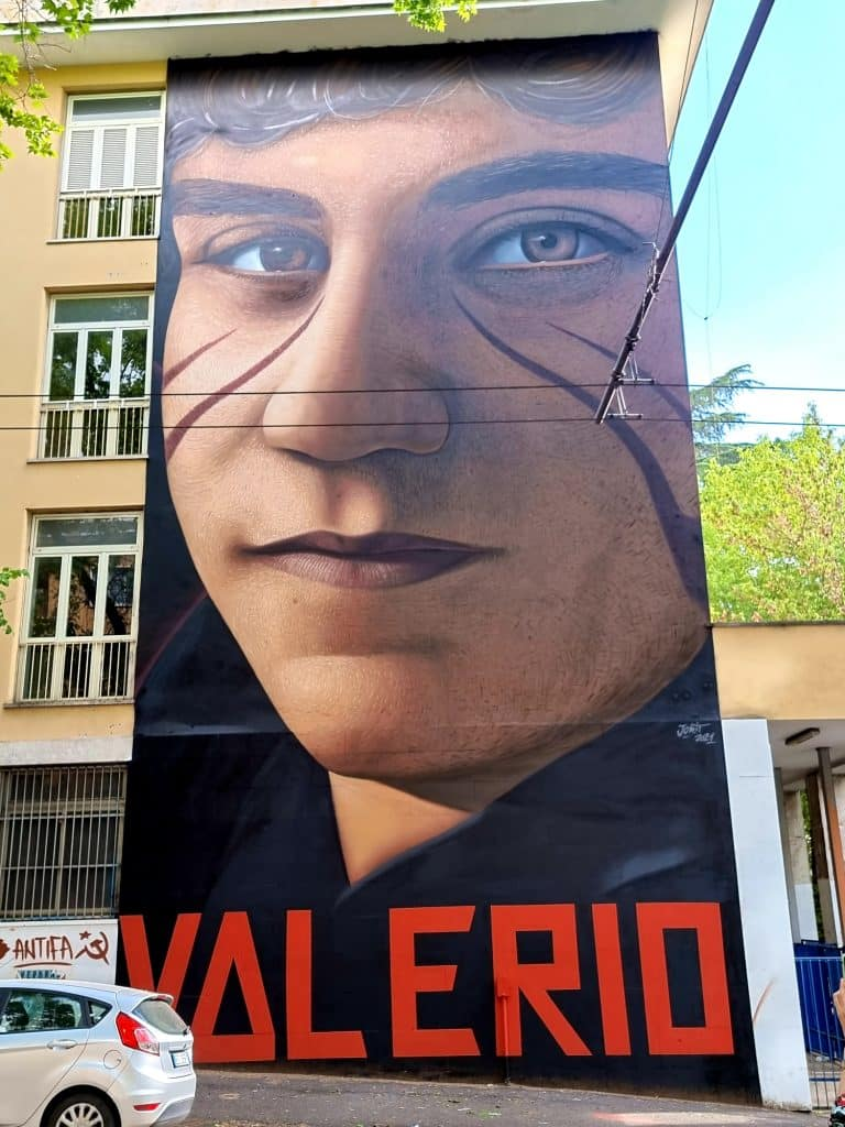Street art - Jorit e l'omaggio a Valerio Verbano