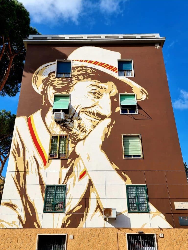 Street art - Gigi Proietti by Lucamaleonte