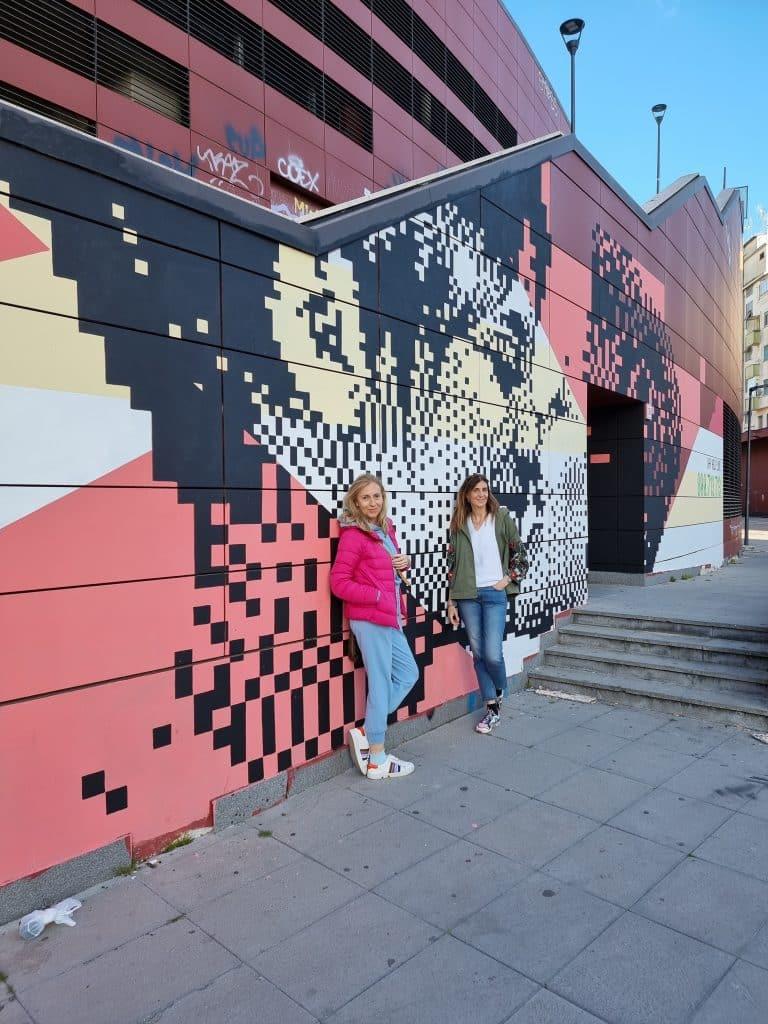 Street art - Fermata metro B Jonio