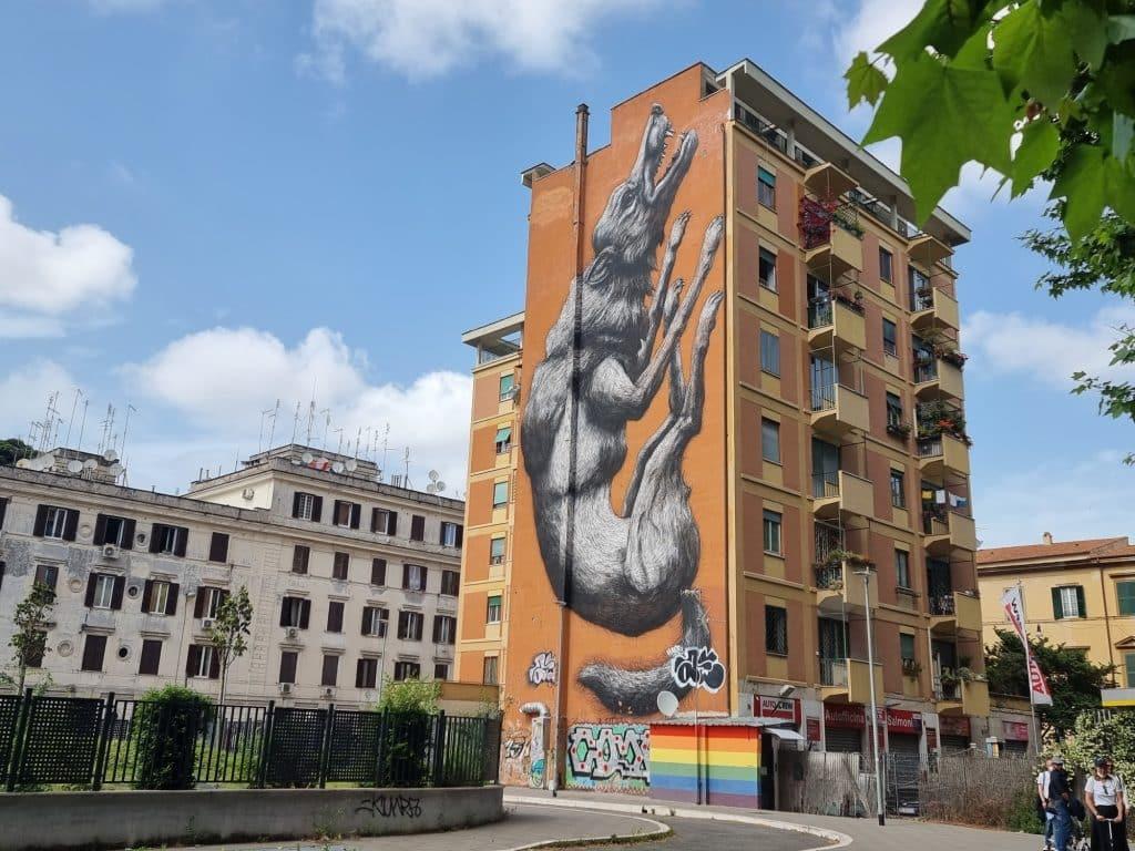 Street art - La Lupa di Roa al Testaccio